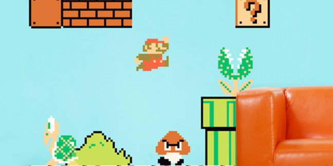 Blik's Original Super Mario Wall Decals