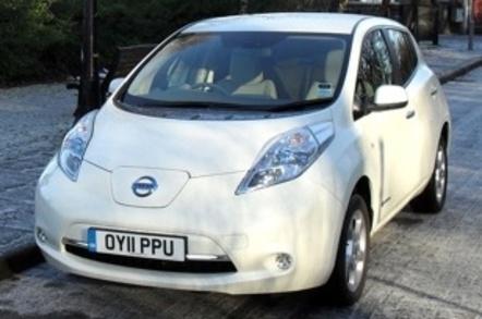 Nissan Leaf battery powered electric car