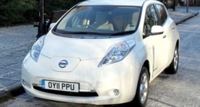 Nissan Leaf battery powered electric car