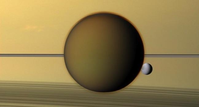 Titan and Dione