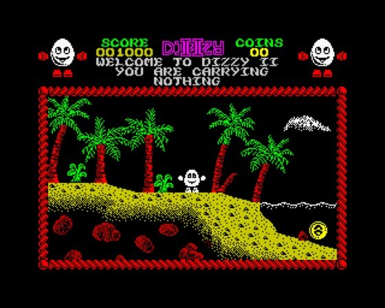 Dizzy Treasure Island ZX Spectrum screenshot