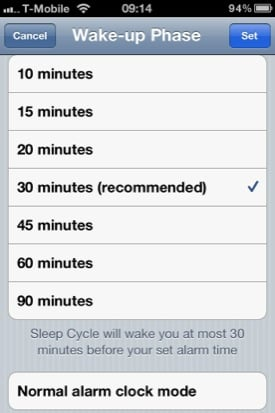 Sleep Cycle iOS app screenshot
