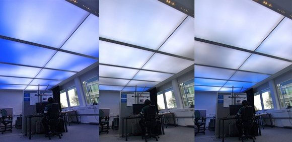 Prototype 'virtual sky'. Credit: Fraunhofer Institutes