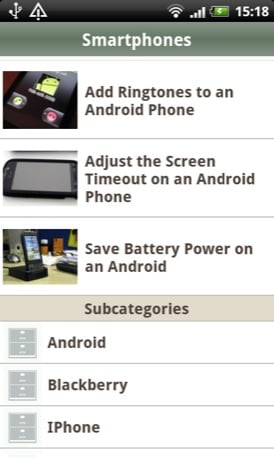 WikiHow Android app screenshot