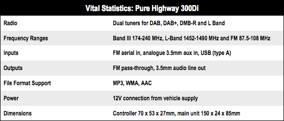Pure Highway 300Di in-car digital radio adapter