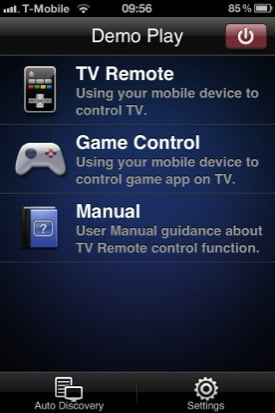 Samsung Remote iOS app screenshot