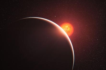 Exoplanet around a star