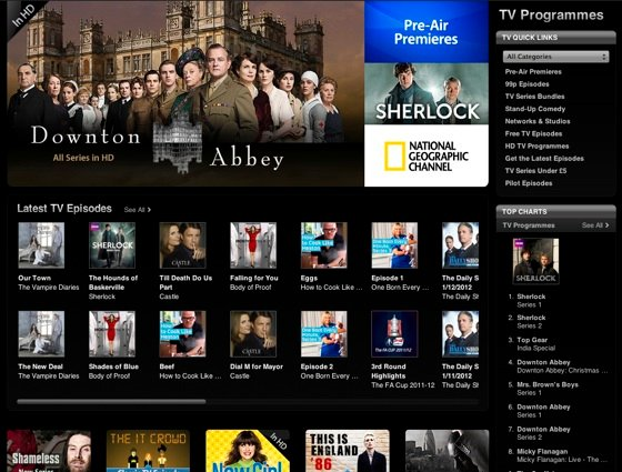Apple iTunes TV store