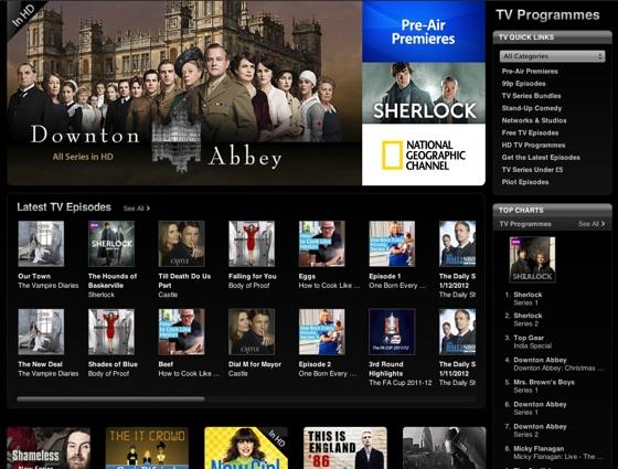 Apple iTunes TV store