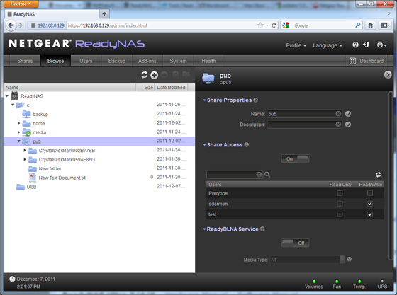 Netgear ReadyNas Duo v2 RND2100 network storage