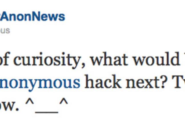 Anon tweet