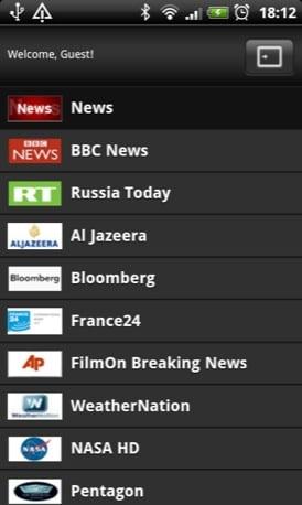 FilmOn Android app screenshot