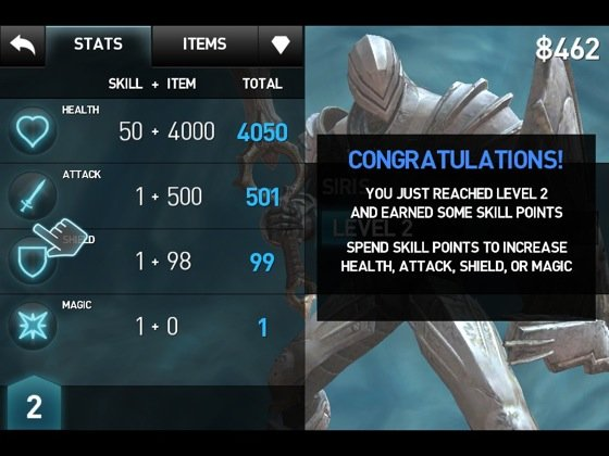 Infinity Blade iOS game screenshot