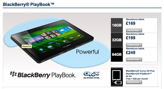 RIM BlackBerry Playbook pricing