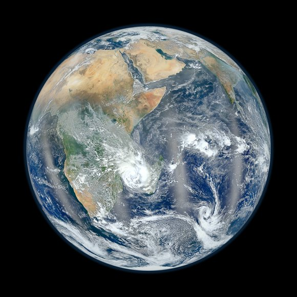 'Blue marble' image of Africa and the Middle East