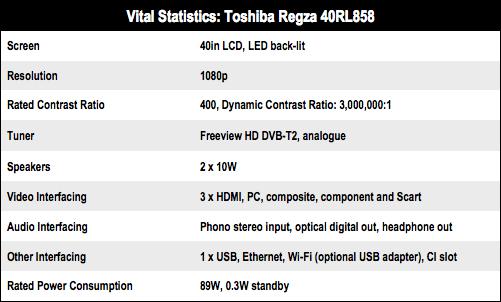 Toshiba Regza 40RL858 LED Smart TV