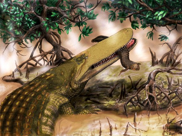 Artist's impression of prehistoric Shieldcroc