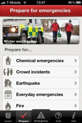 First Aid by the British Red Cross app screenshot