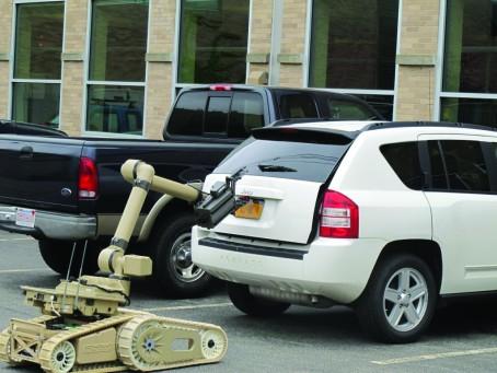 iRobot Warrior robot opening car