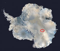 Location of Lake Vostok