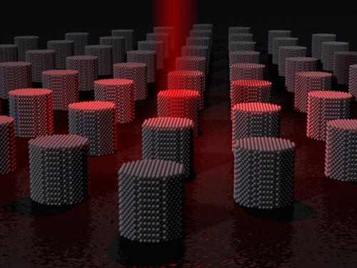 Laser heating of magnetic storage