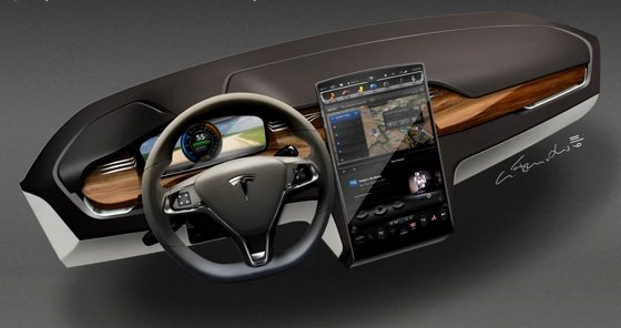 Tesla Model X e-SUV dashboard