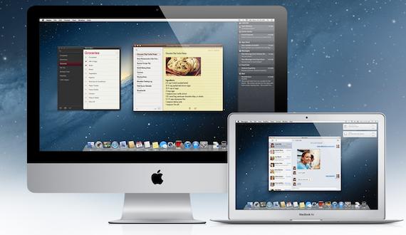 Mac OS Mountain Lion screengrab, credit Apple