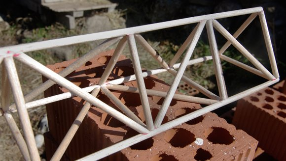 The finished truss structure