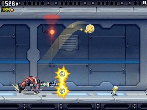 Jetpack Joyride iOS game screenshot