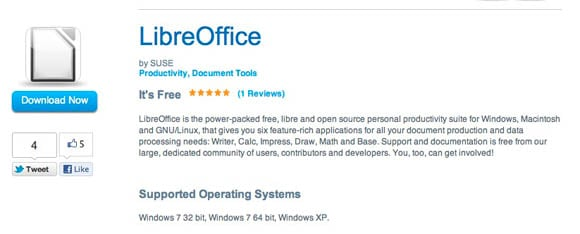 LibreOffice for Intel's AppUp Store