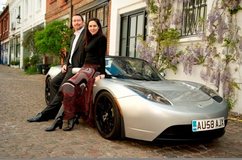 Richard Tinus happy with his Top Gear Tesla