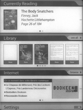 Bookeen Cybook Odyssey screenshot