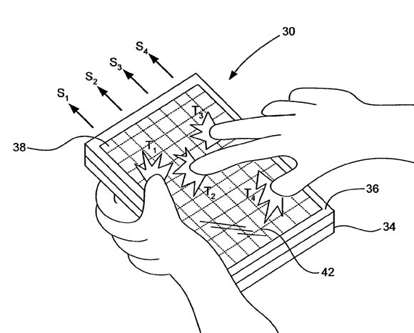 Apple 'Multipoint touchscreen' patent illustration