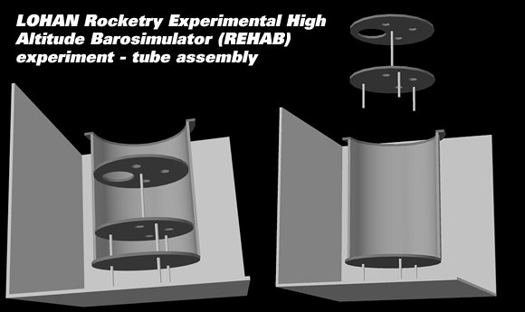 3D CAD model of the REHAB tube assembly