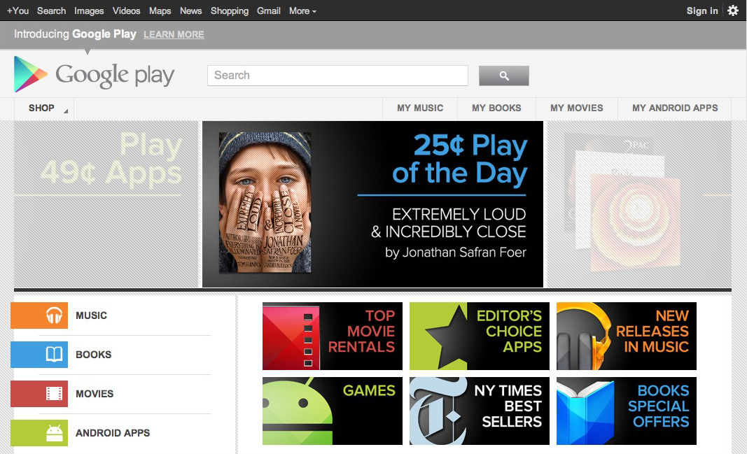 9cd37e2f5 Android Market morphs into  Google Play  • The Register
