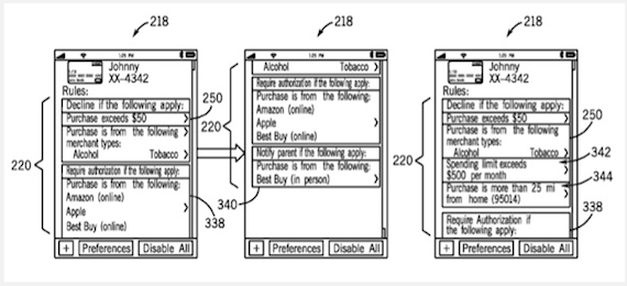 Parental controls in action, credit US Patent Office
