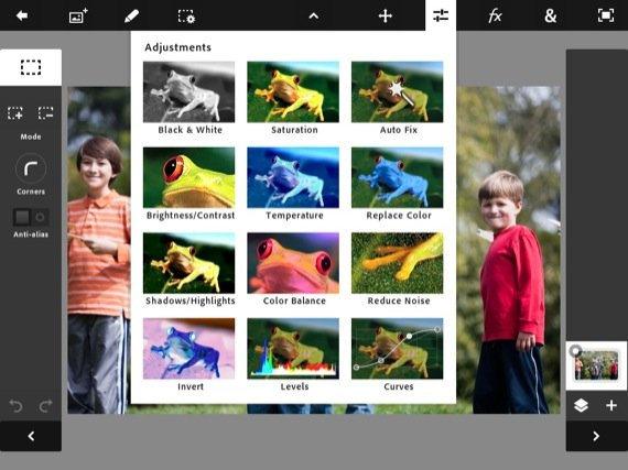 Adobe Photoshop Touch ios app screenshot