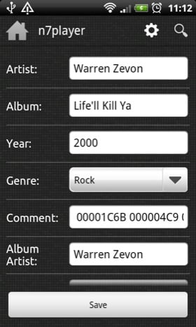 N7Player Android app screenshot