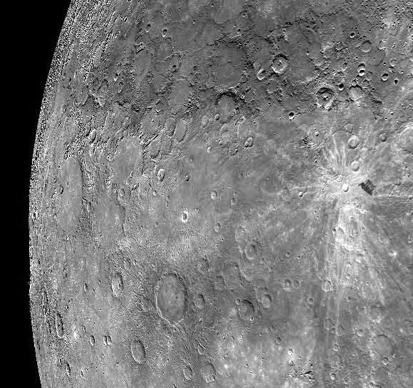 The planet Mercury as seen from the MESSENGER probe. Credit: NASA/UCSB