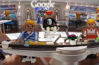 The reception are at Google's office