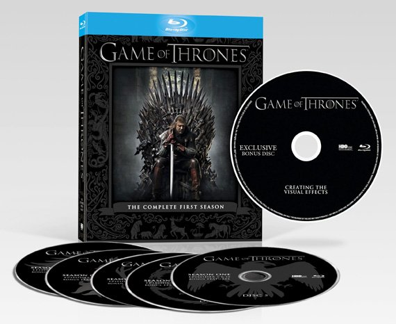 Game of Thrones Season One Blu-ray disc set