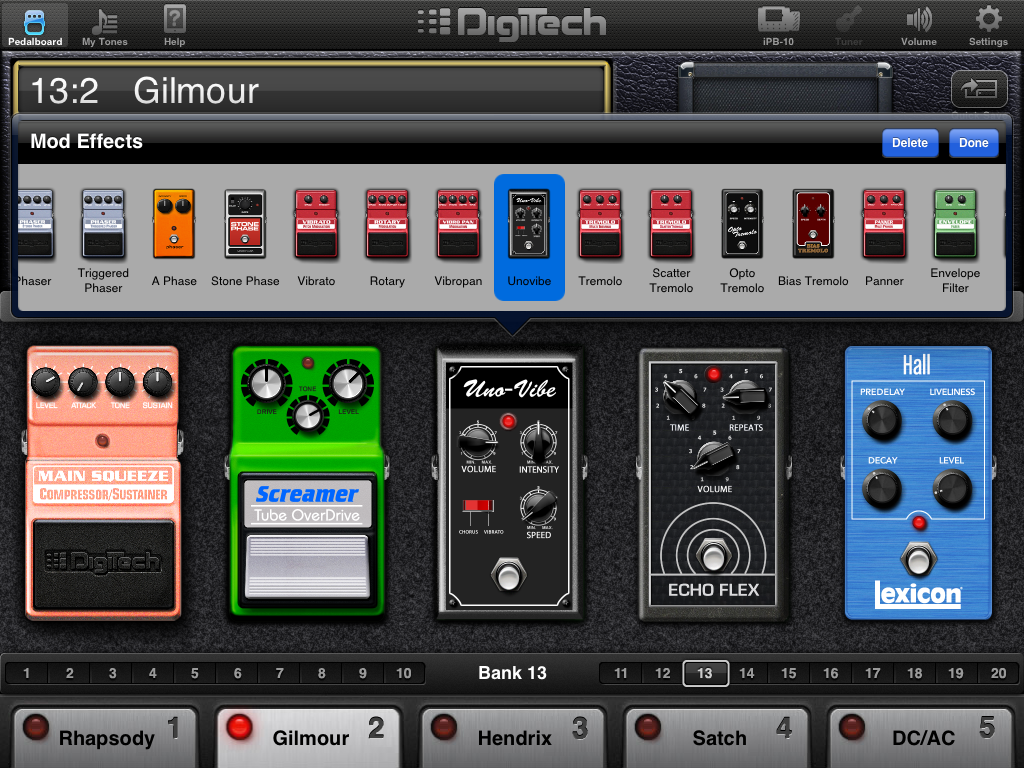 digitech ipb 10 guitar effects pedalboard for ipad the register. Black Bedroom Furniture Sets. Home Design Ideas