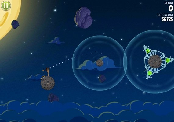 Angry Birds Space mobile game screenshot