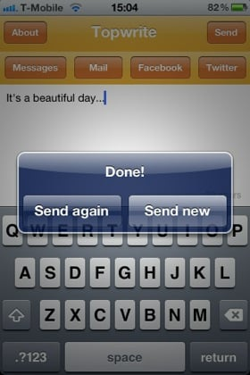 TopWrite iOS app screenshot