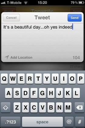 TopWrite iOS app screenshot