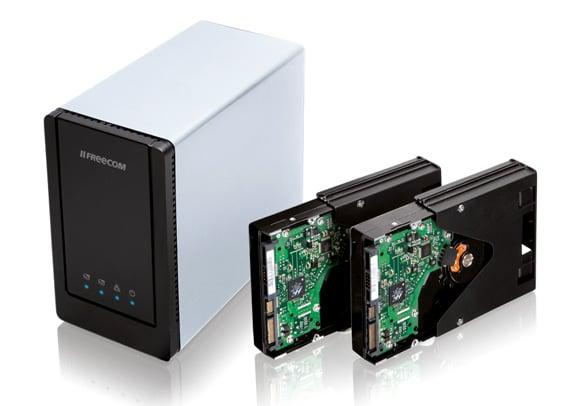 Freecom Dual Drive Network Centre dual-bay NAS drive