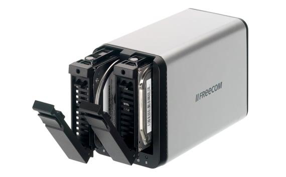 Freecom SilverStore dual-bay NAS drive