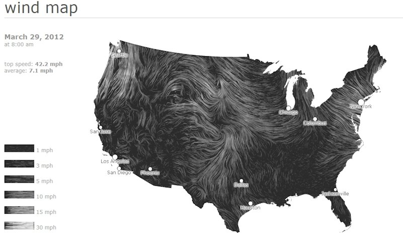 Wind map, dynamic