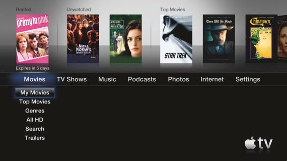 Apple TV second-gen UI