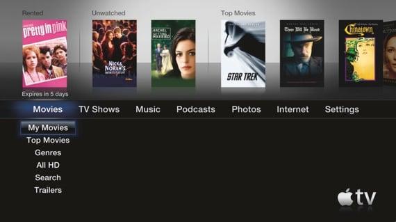 Apple TV second-gen UI